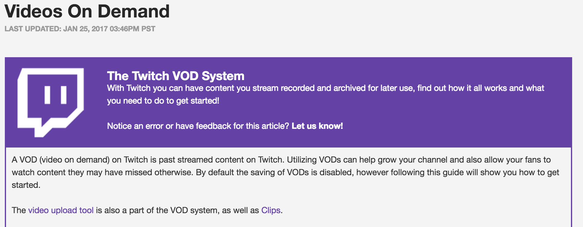 Twitch Video On Demand (Photo: Twitch)