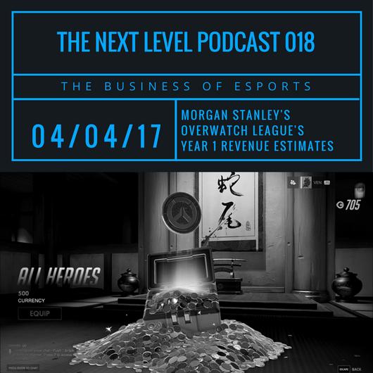 TNL eSports Podcast 018: Morgan Stanley's Overwatch League Revenue Estimates (Graphic: The Next Level)