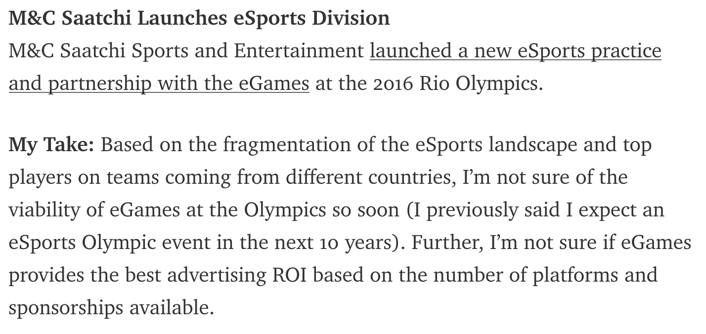 We Aren't Ready For eSports In The Olympics...Yet (Photo: The Next Level)