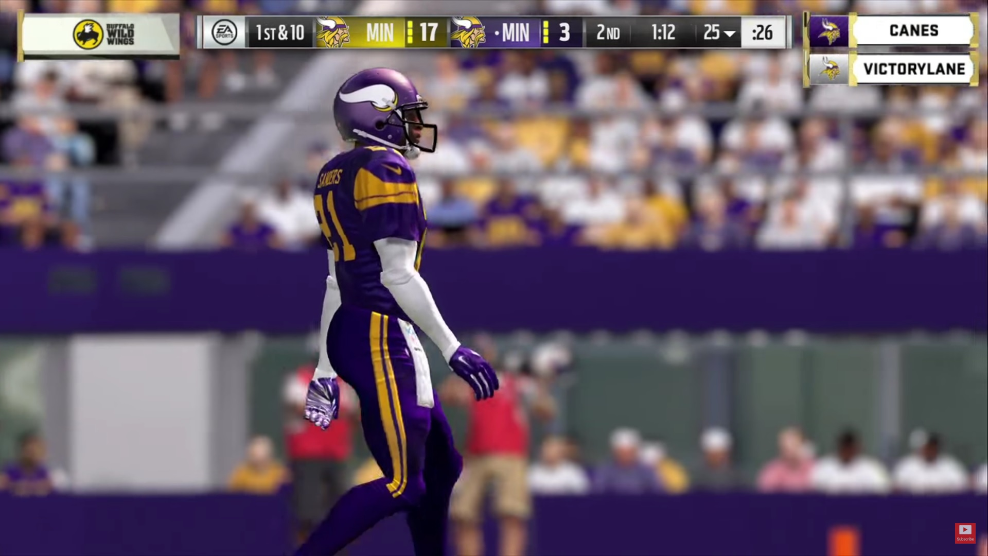 Buffalo Wild Wings In Game During The Vikings Club Series (Photo: Youtube Vikings Club Series)