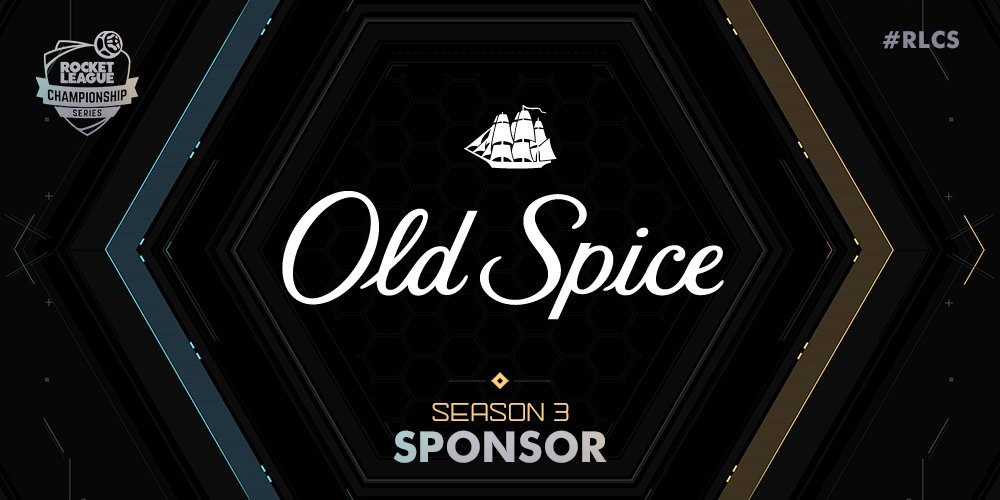 Old Spice Sponsors Rocket League Season 3 (Photo: RLCS Twitter)