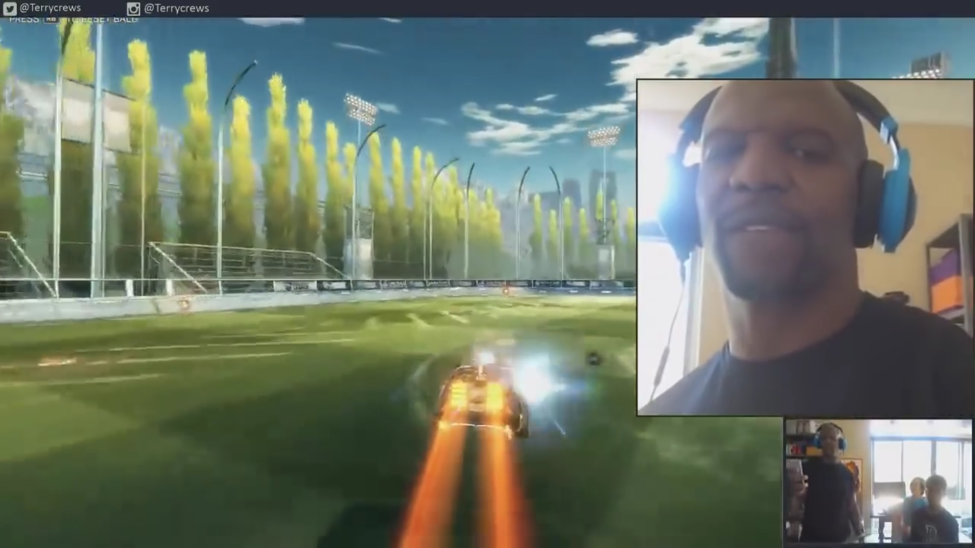 Terry Crews' Playing Rocket League (Photo: YouTube)