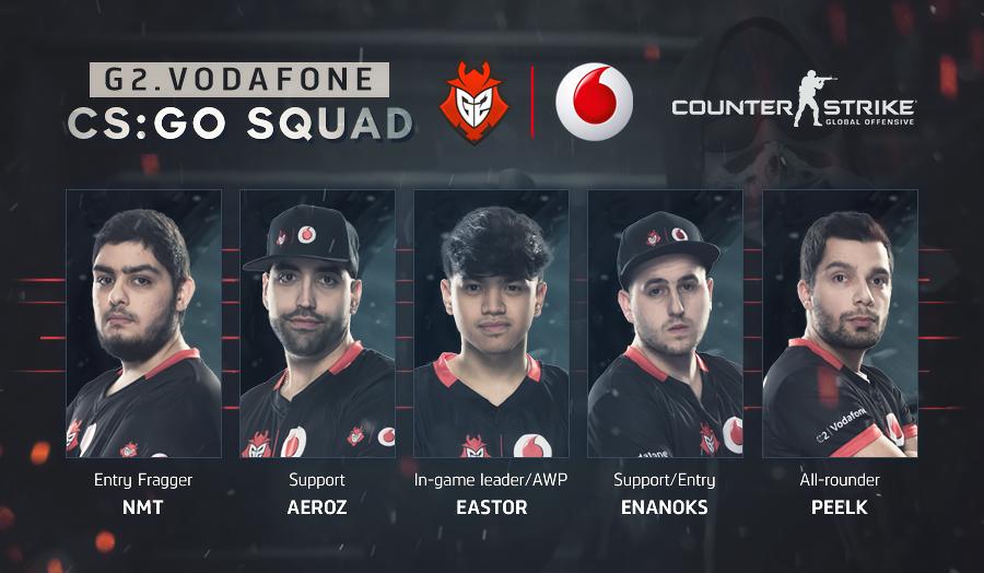 G2 eSports Vodafone Counter-Strike Team (Photo: G2 eSports)