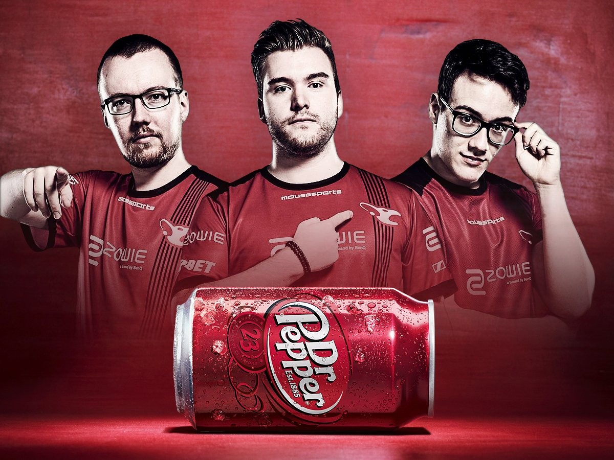 Dr. Pepper Signs Agreement with Mousesports in May 2017 (Photo: Mousesports)