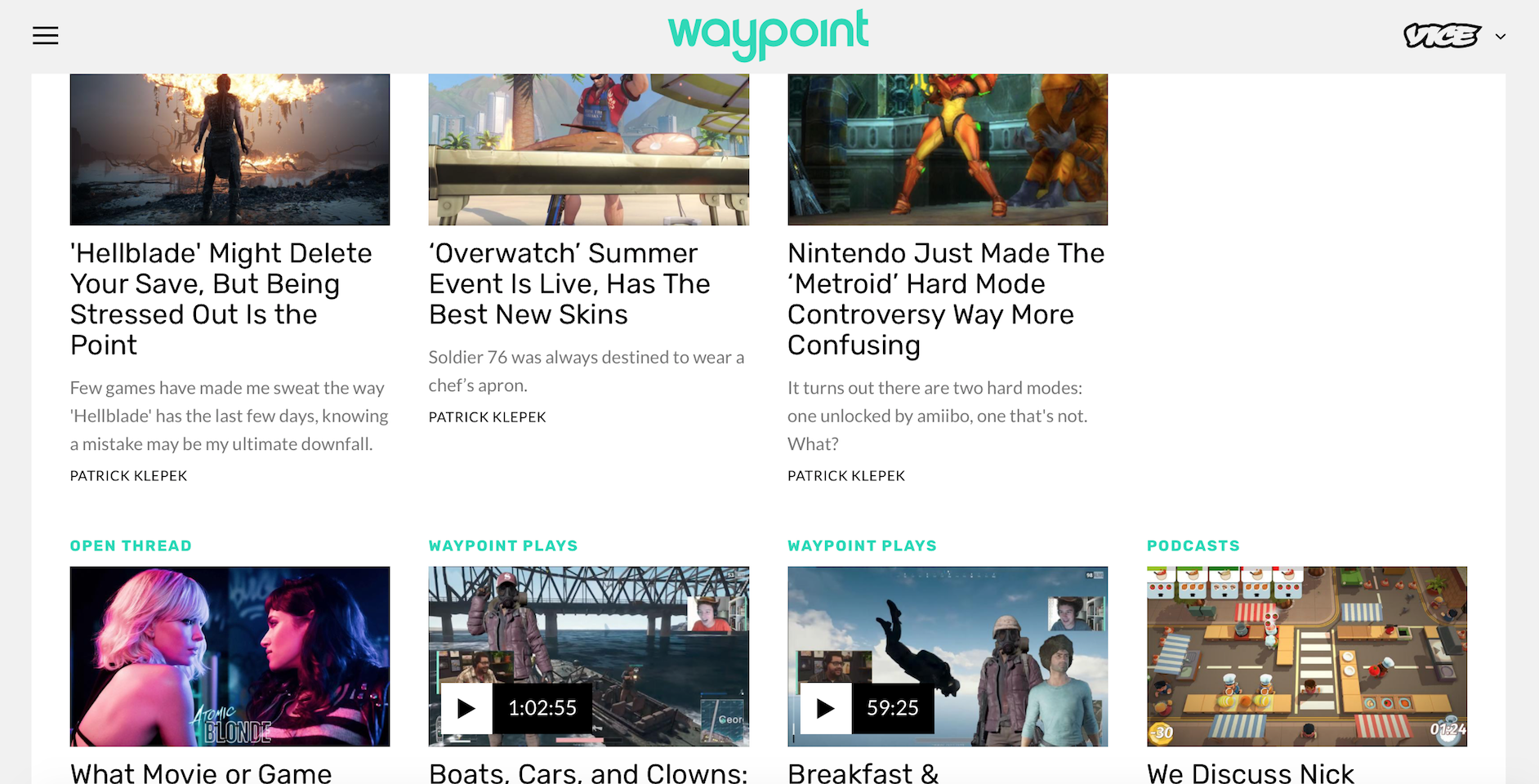 Waypoint: Vice's Gaming and eSports Site (Photo: Vice)