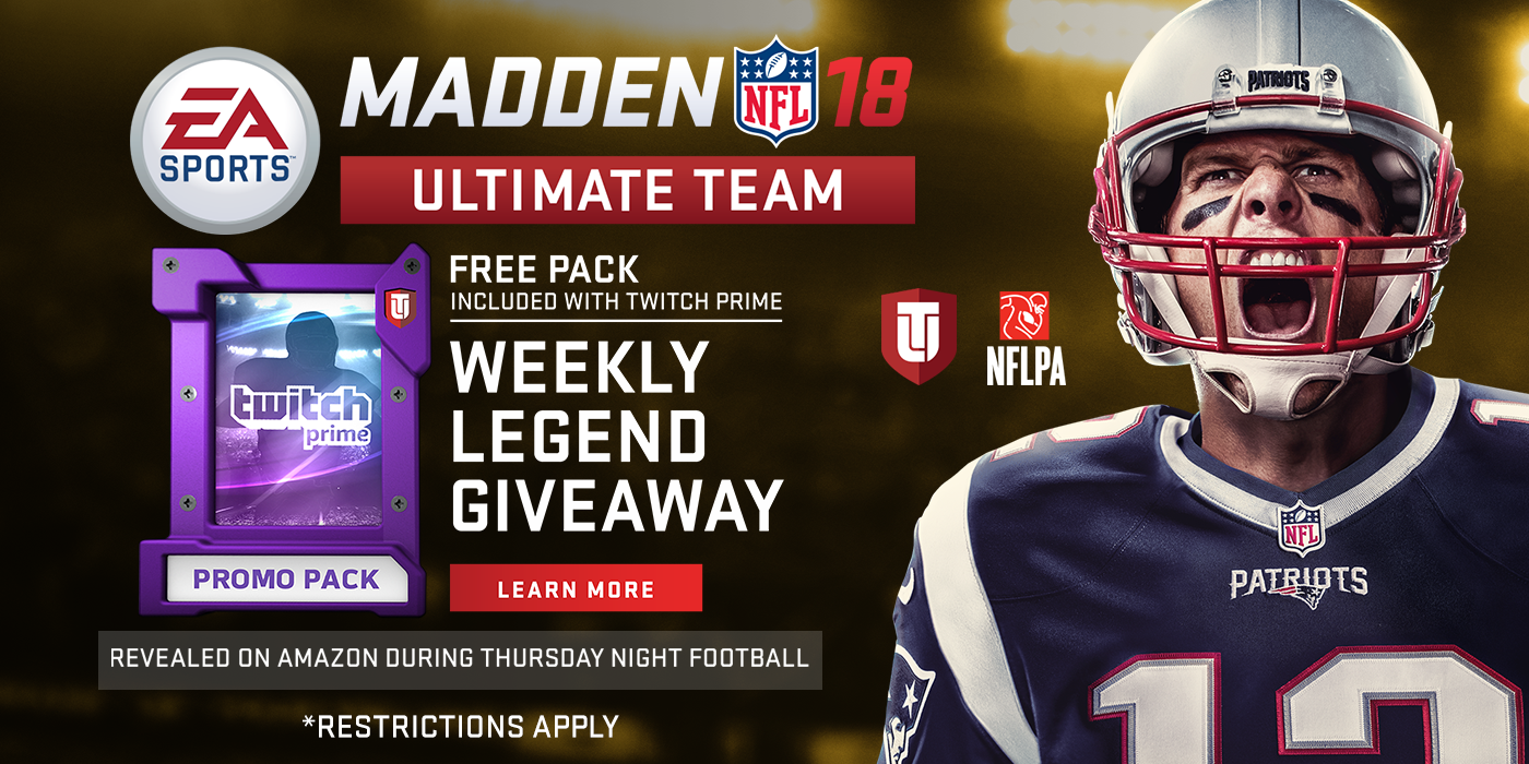 Twitch Prime and EA Madden NFL 18 Promotion (Photo: Twitch)