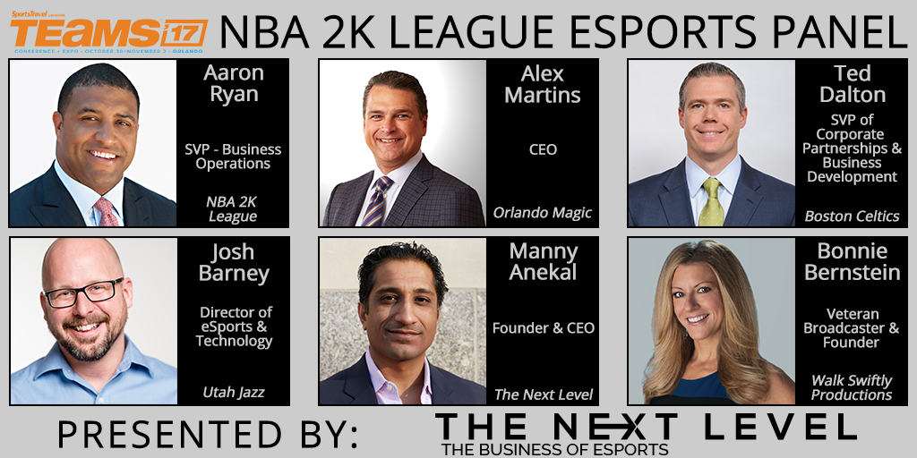 NBA 2K League Panel at 2017 TEAMS Conference (Photo: The Next Level)