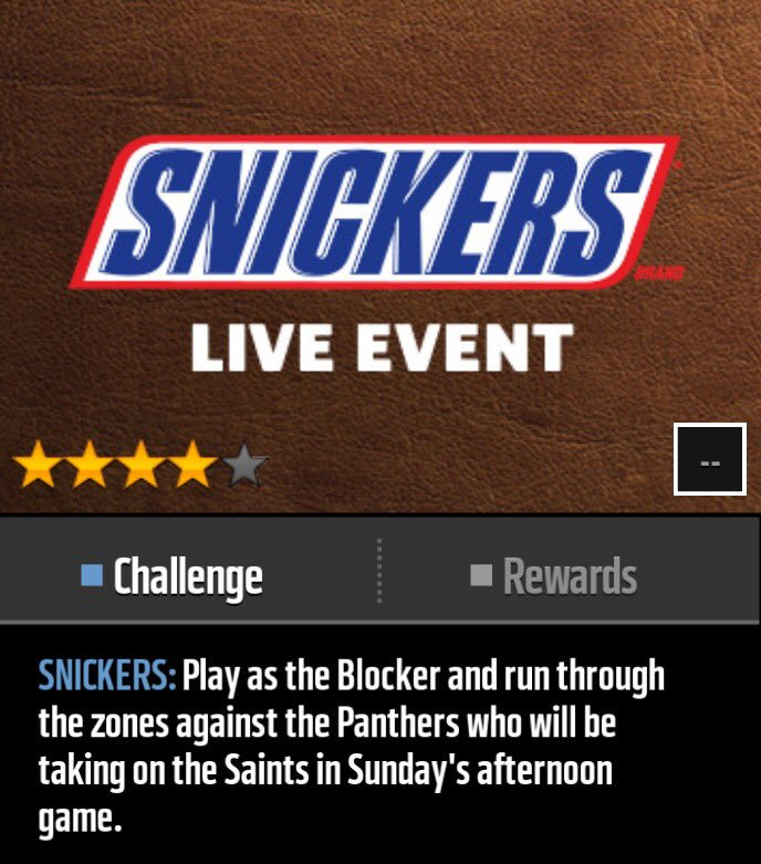 Snickers In EA Madden Mobile 18 (Photo: EA Sports)