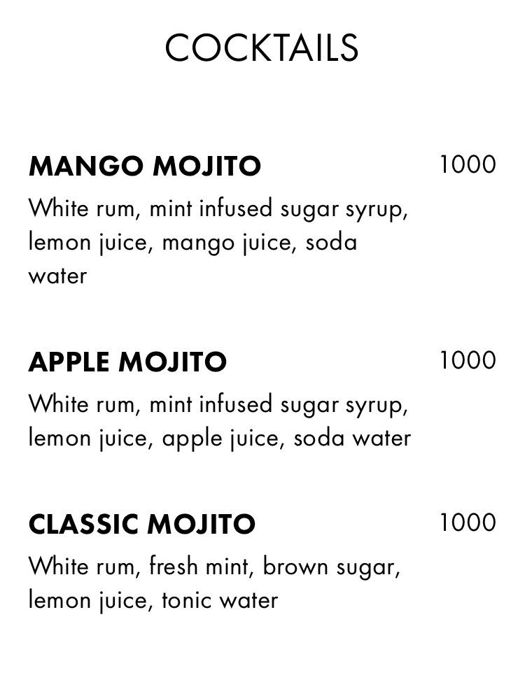cocktails menu eat drink festival