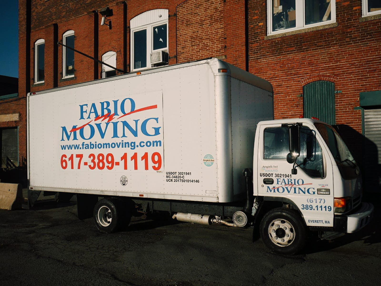 """- """"I have used Fabio four times; three times for local moves in Cambridge and Boston and most recently from Boston to New York. Each time, it went flawlessly. Any issues Fabio addressed quickly including my NYC building wanting beyond the usual level of insurance. Each furniture item was carefully wrapped and everything made it in perfect condition. They asked where to put each item in the apartment. Fabio has been at each and every move along with 1-2 other movers. Super friendly and professional - a class act. Five stars all the way!!!""""-Kim H."""