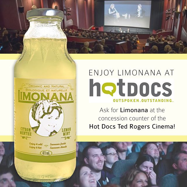 Patrons of the Hot Docs Canadian International Documentary Festival can enjoy Limonana at the concession counter of the Bloor Cinema, now called Hot Docs Ted Rogers Cinema. There are EXCELLENT documentaries playing this year and amazing curators. You won't be disappointed! hotdocs.ca runs from April 26 to May 6. Enjoy! @hotdocsfest #HotDocs25 #hotdocs #Toronto
