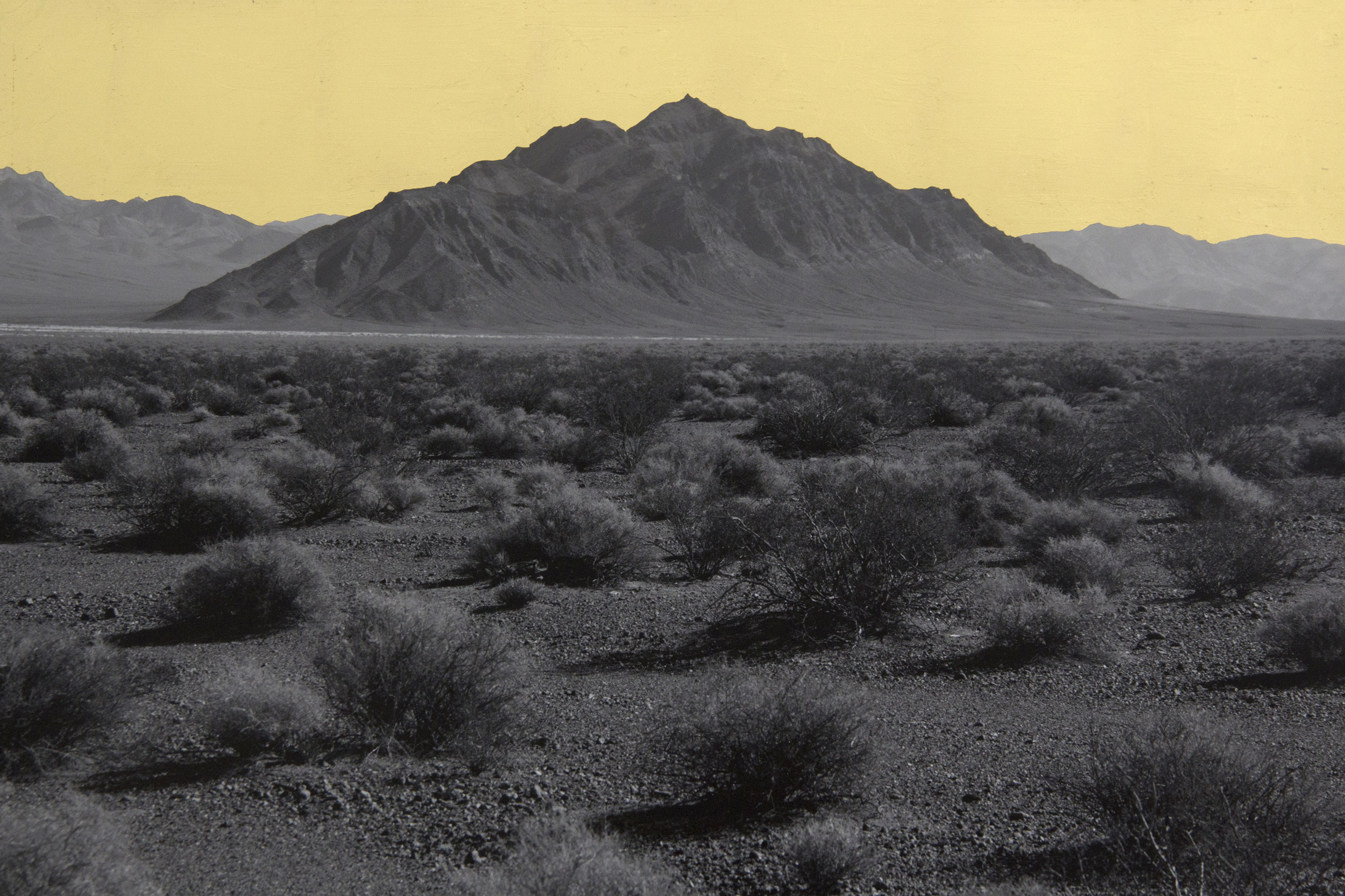 Mountain, Southwest Nevada Desert, 2014, digital pigment print with 22K gold leaf