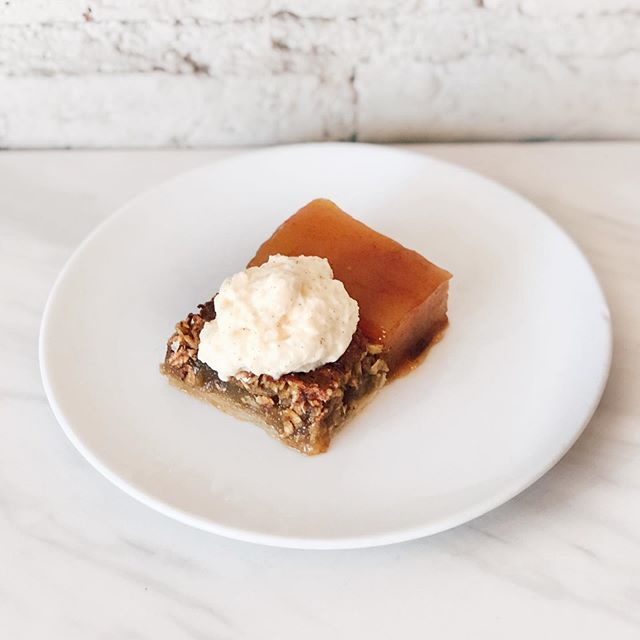 ‼️TONIGHT'S DESSERT SPECIAL‼️ Is bringing Fall energy like you won't believe: Caramel Apple Oatmeal Pie with Malted Caramel Whipped Cream. Get 'em while you can! 📸: @alexandramakeba