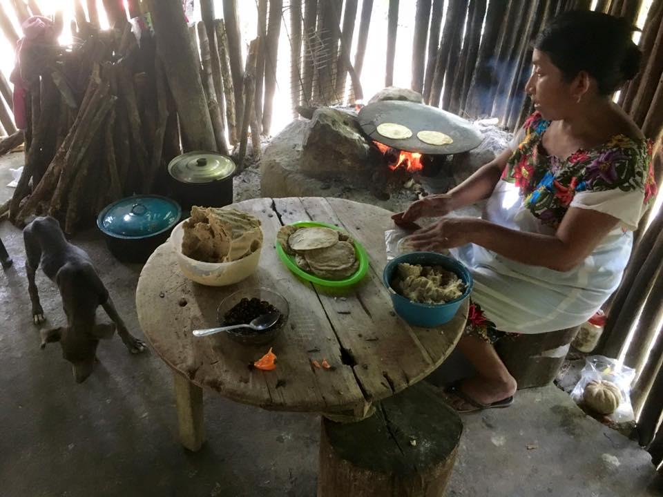 Maya Woman in community daily life