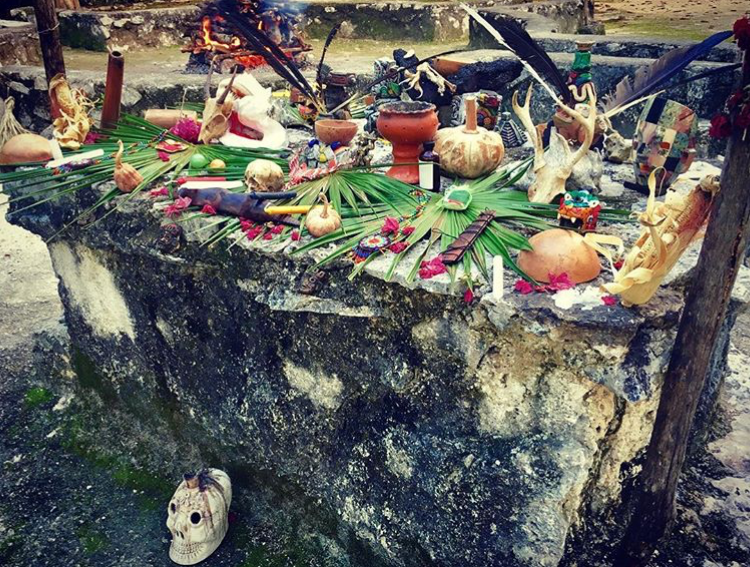 Mayan Alter for ceremony