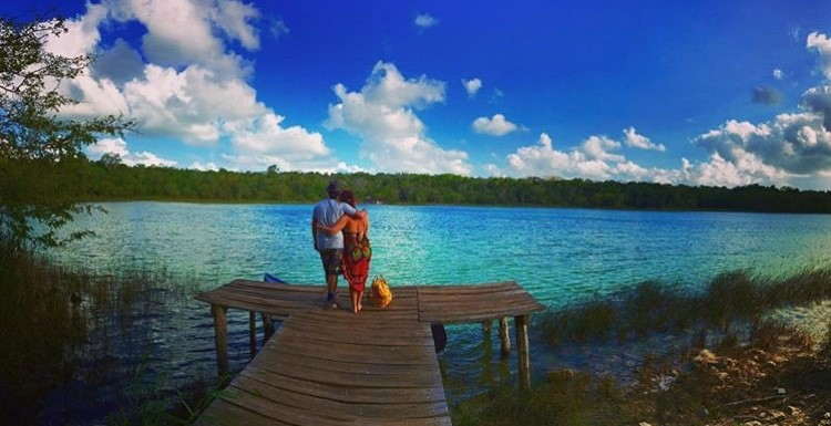 Couple at Punta Laguna