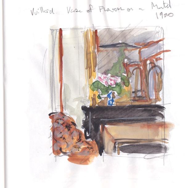 Museum sketch- after Vuillard