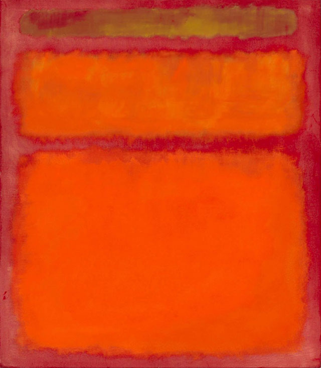 Mark Rothko's Orange, Red, Yellow - Amy is not alone in her opinion, this one sold at auction in 2012 for over 86 million.