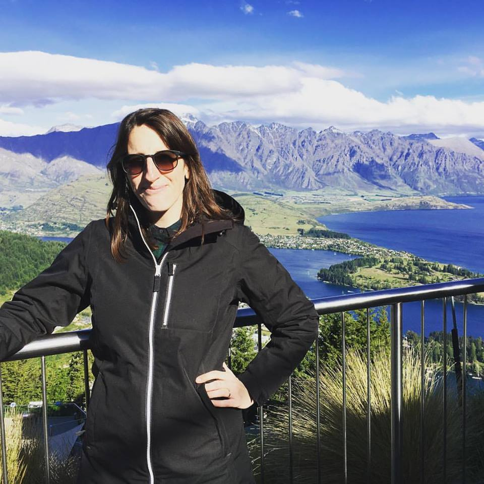 I look like I'm crying but I'm really squinting. Though I COULD be crying over that view and no one would blame me. Queenstown gondola.