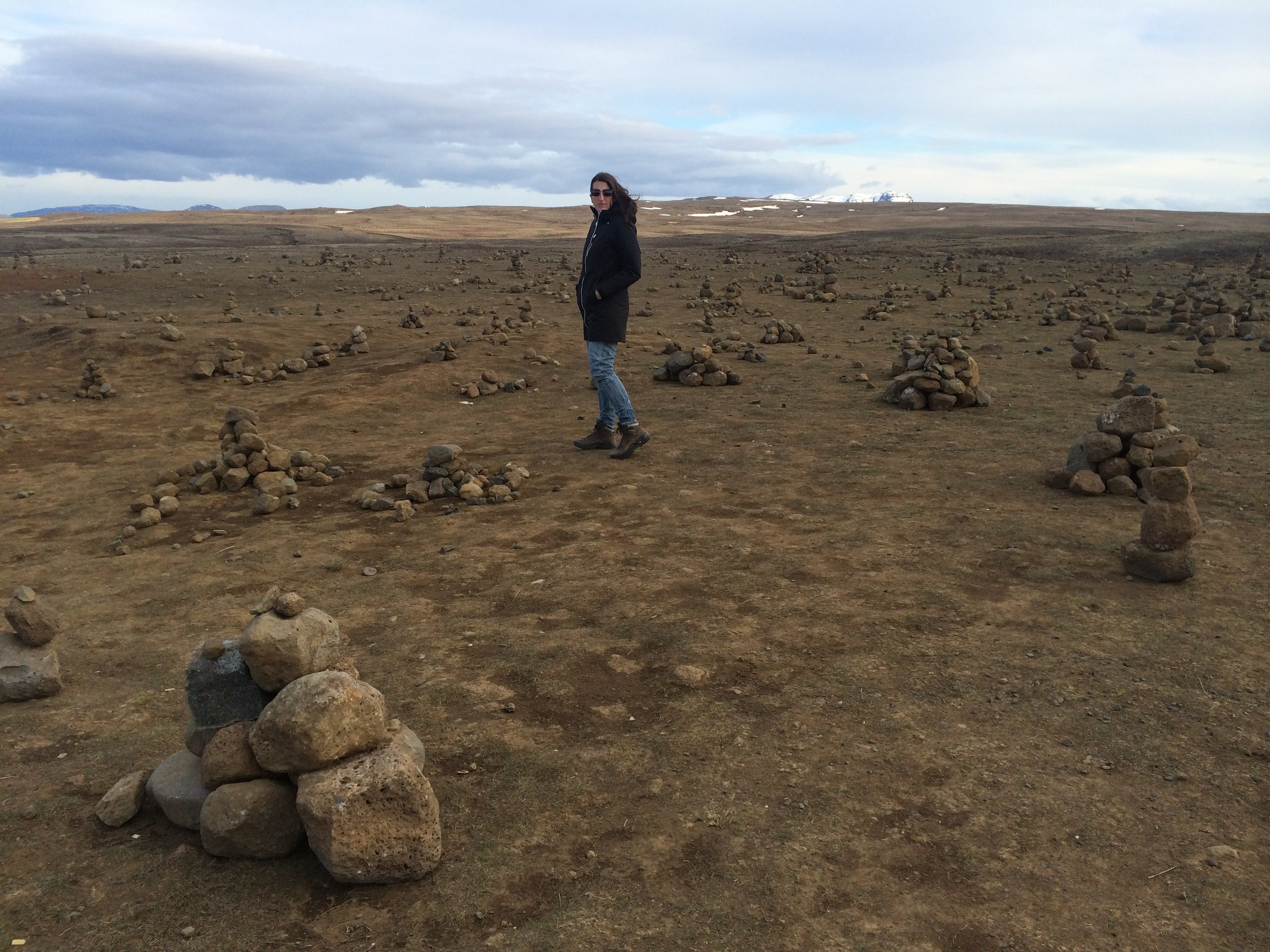 A roadside cairn field - WHO MADE THESE CAIRNS?!