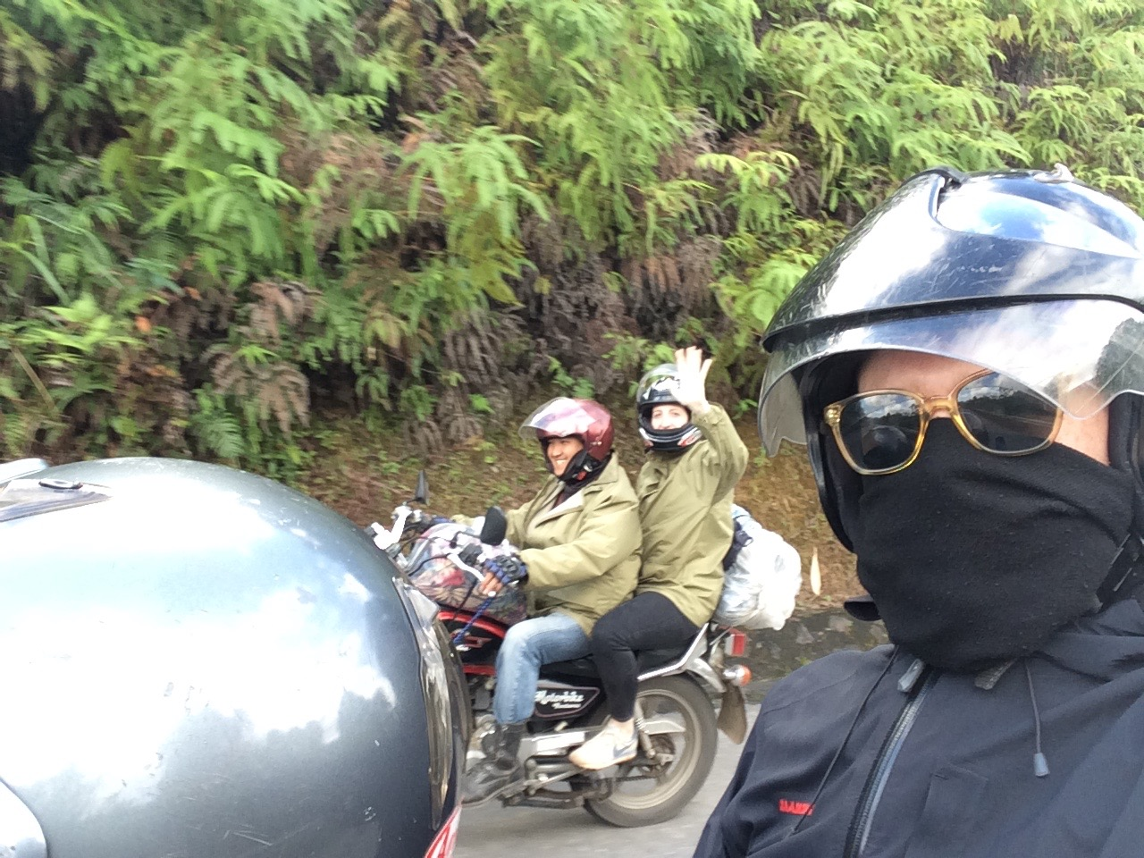 Me a  nd Huang    on the road from Jack's POV (yeah, that is Jack).