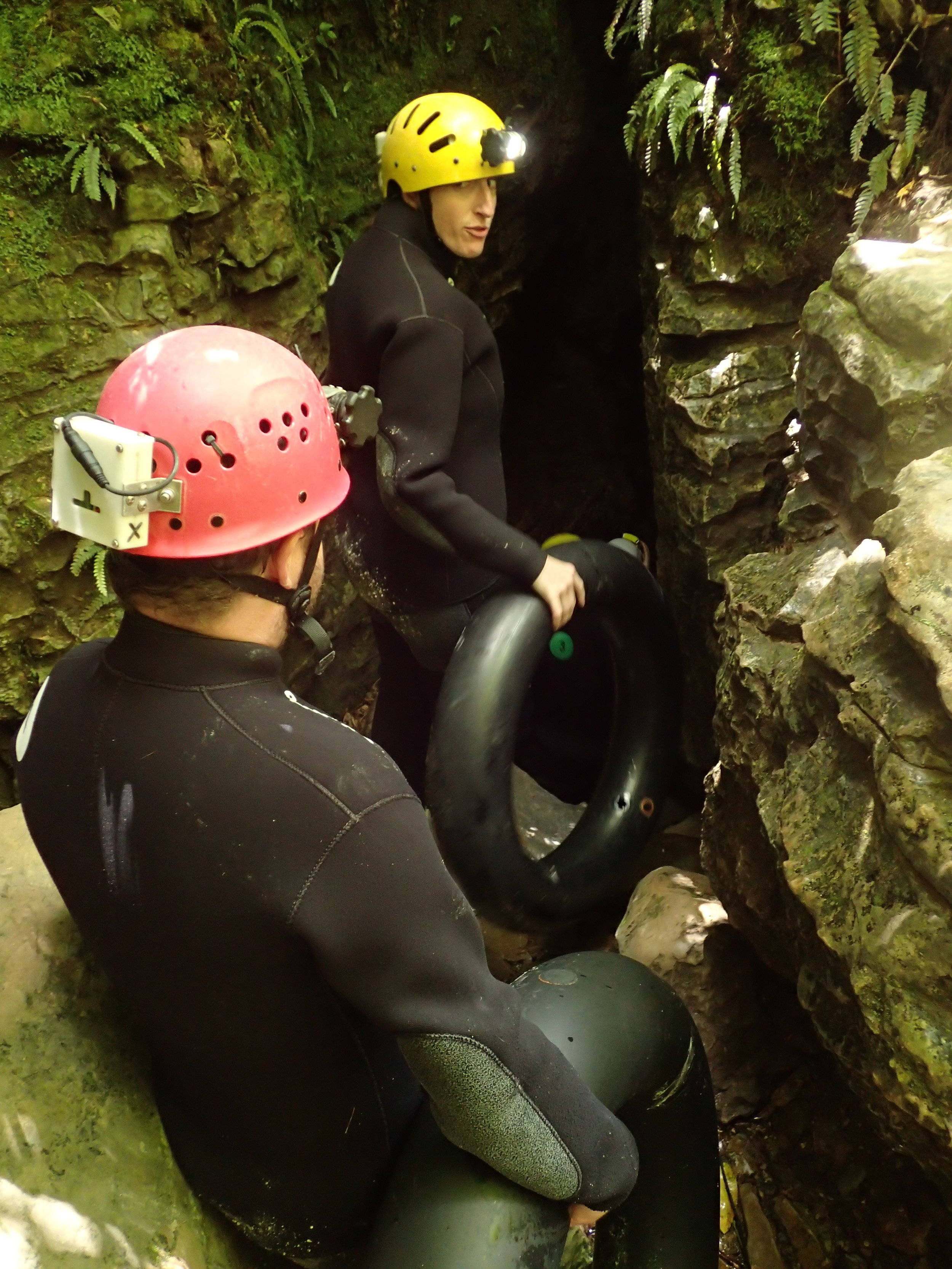 """Entering the cave - I think I was telling Jack """"don't try to scare me or I'll destroy you."""""""