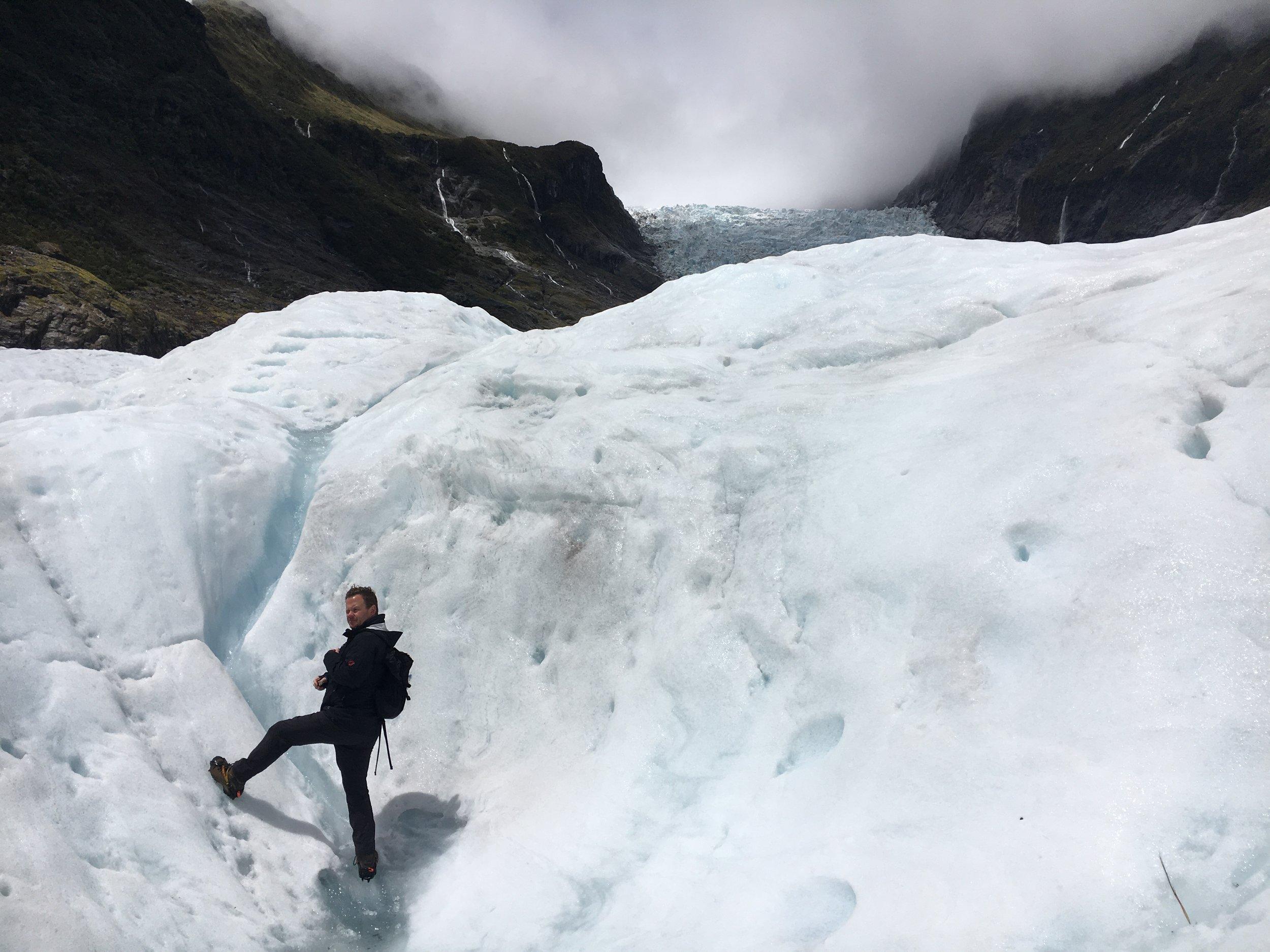 Jack, putting the FOX in Fox Josef Glacier.