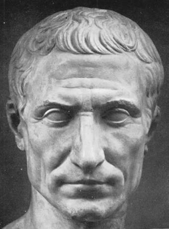 Escultura de Cayo Julio César, político y general romano.