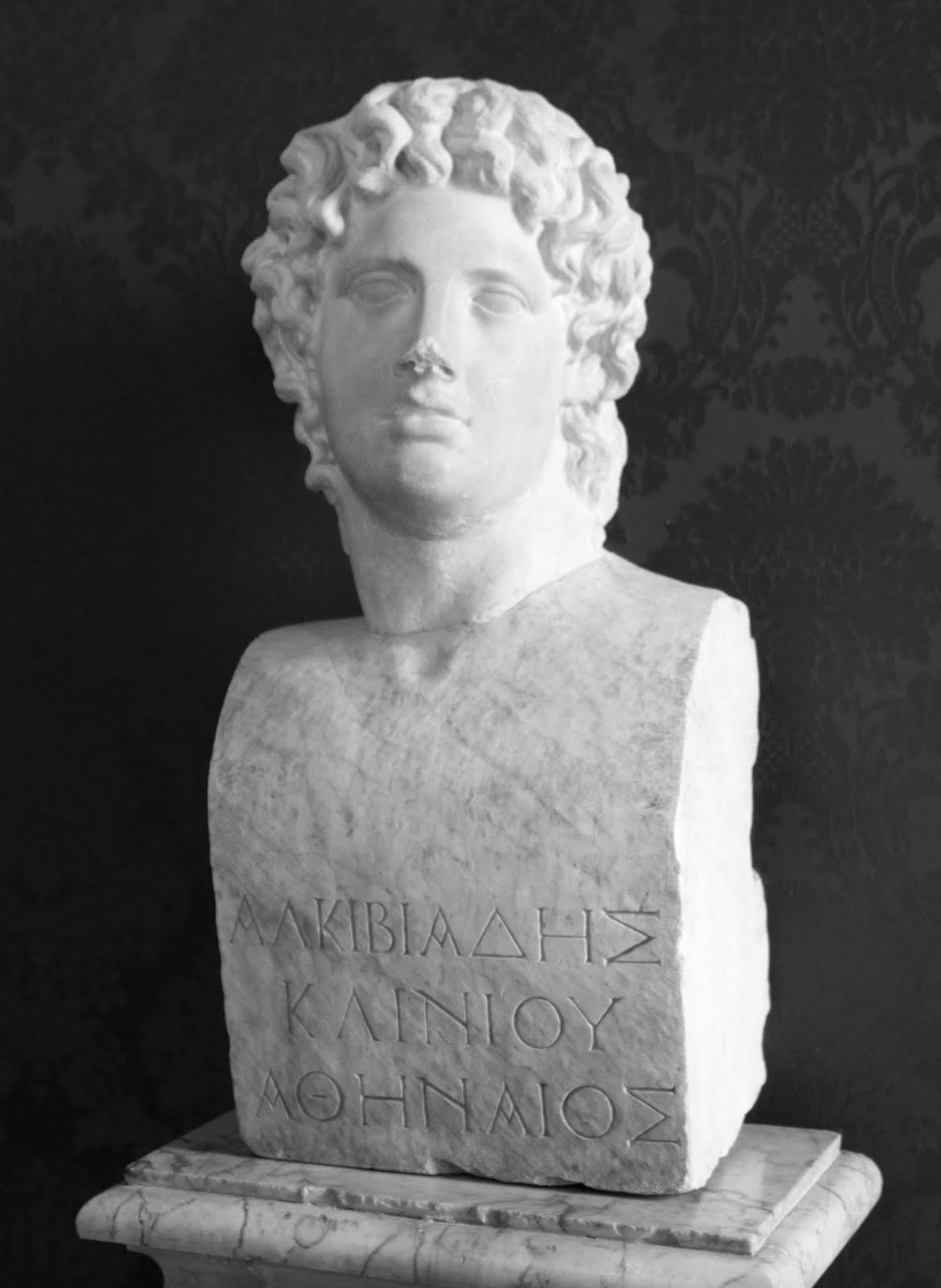 Busto de Alcibíades, político y general ateniense.