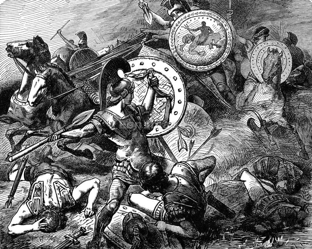 La victoria tebana en la batalla de Leuctra .