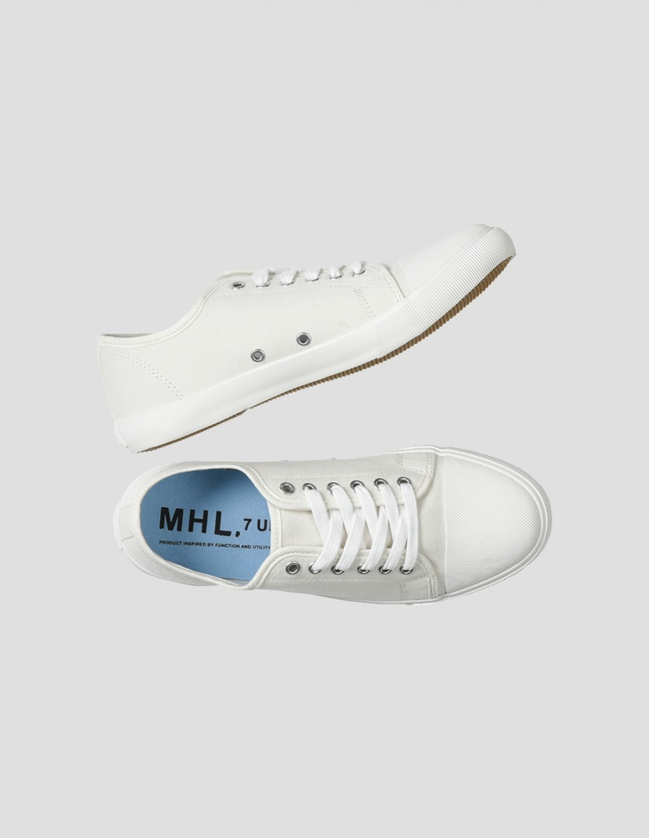 MHL MILITARY PLIMSOLE - Cotton Canvas Off White,  Unisex Military Plimsole