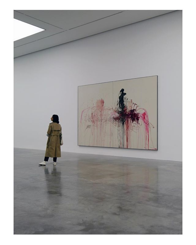 Emin has rarely exhibited her paintings. The paintings are mostly nude self-portraits, though they are not recognisably so. Some are densely worked, the paint layered and dripping in the manner of Cy Twombly, the figure blotted out with angry strokes of white bringing a heightened sense of physicality. Others are so delicate and minimal with a palette of pinks and vermilion reds she threatens to dissolve into the canvas. — —