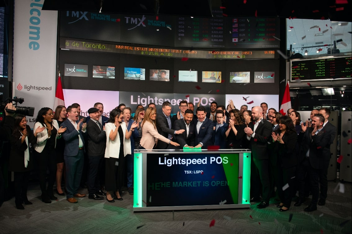 Lightspeed POS Inc. begins initial public offering at the Toronto Stock Exchange. Photo credit: Mauricio J Calero