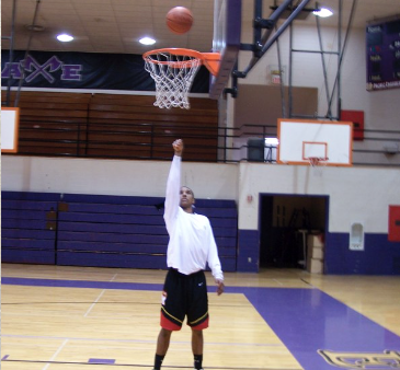 Release the ball and follow through by pointing at the center of the rim