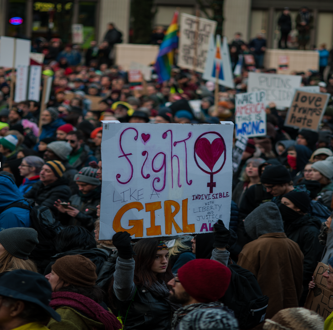 Portland Oregon's Solidarity March with the Women's March on Washington, January 21, 2017