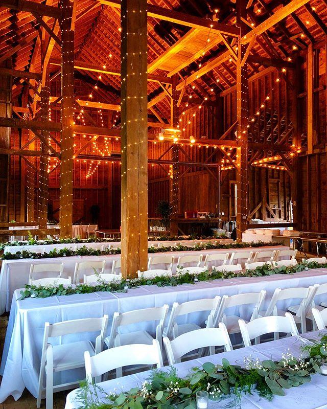 Congratulations Annie and Eric! . . . . . #wedding #barnwedding #catskillmountains #catskills #fall #fallwedding #weddingreception #rusticwedding #bride #groom #weddingdress #bridalparty #weddingvenue #ceremony