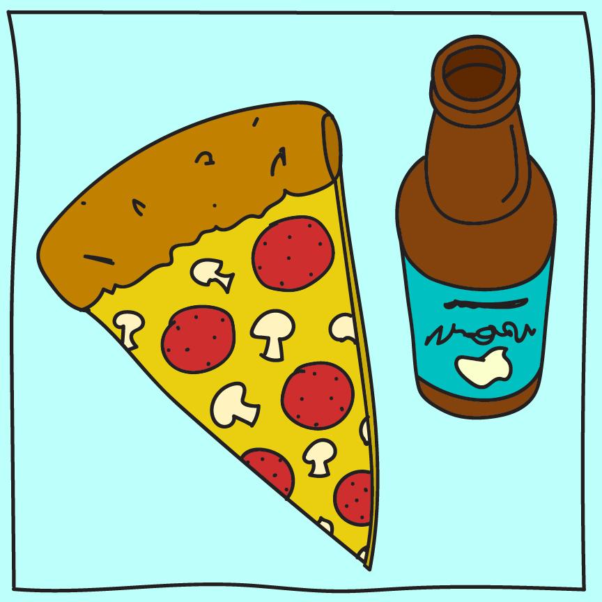 81/100: Pizza & Beer.