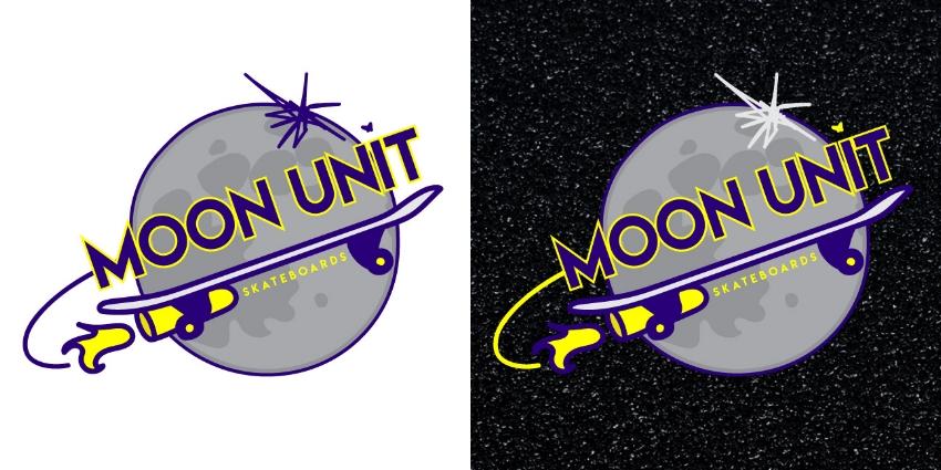 Moon Unit Logo (illustration-based: stacked