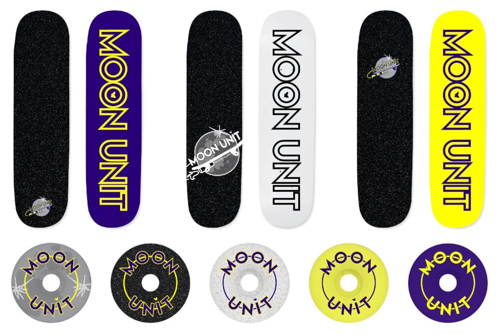 Moon Unit Skateboard Decks and Wheels