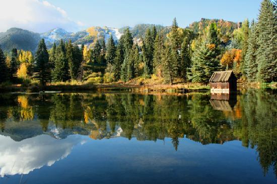Hallam Lake at Aspen Center for Environmental Studies