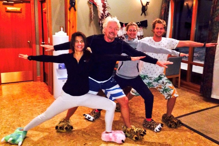 """Virgin Blog - Richard Branson - Get Active AnywareAs Gina said: """"The family that yoga's together, stays together!""""21 January 2014"""