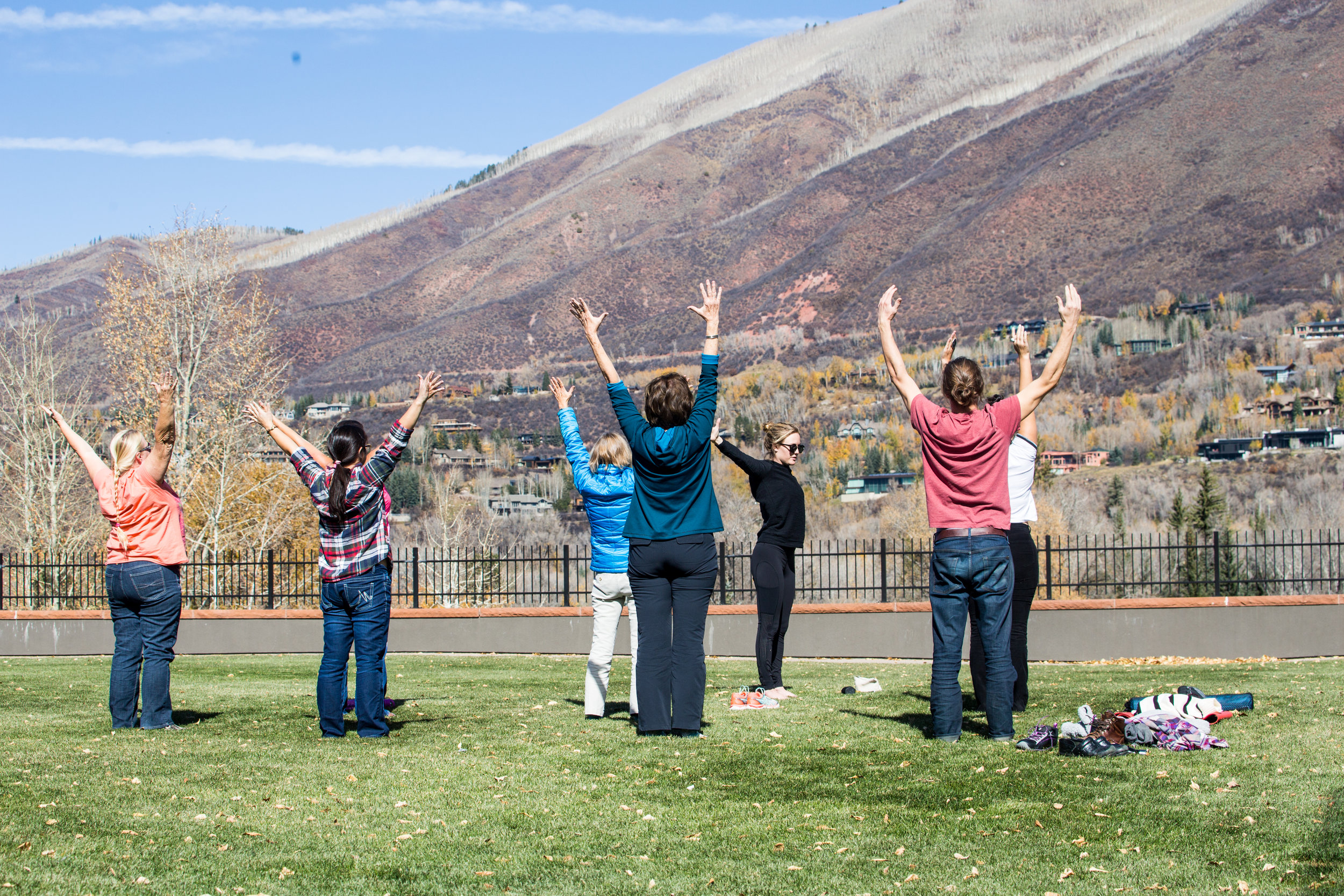 """The Aspen Times - """"Really incorporating the mindfulness of yoga and the breathing that was absolutely foreign to most of us, but to really just sit down for 30 minutes, stretch your body out and let your brain just really recharge. Honestly, the feeling afterward, the guys and myself were just like, 'This is absolutely amazing that that just happened, the sensation afterwards.'""""October 25, 2018//"""