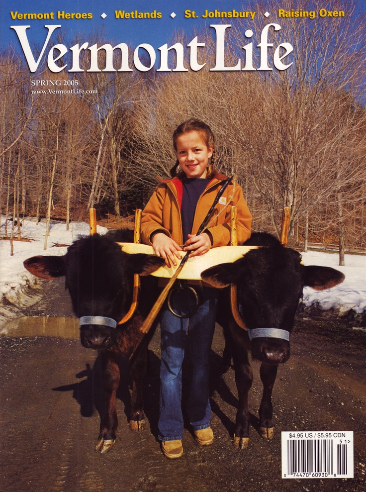 Putney's own Emily Wilson on Vermont Life's cover in 2005