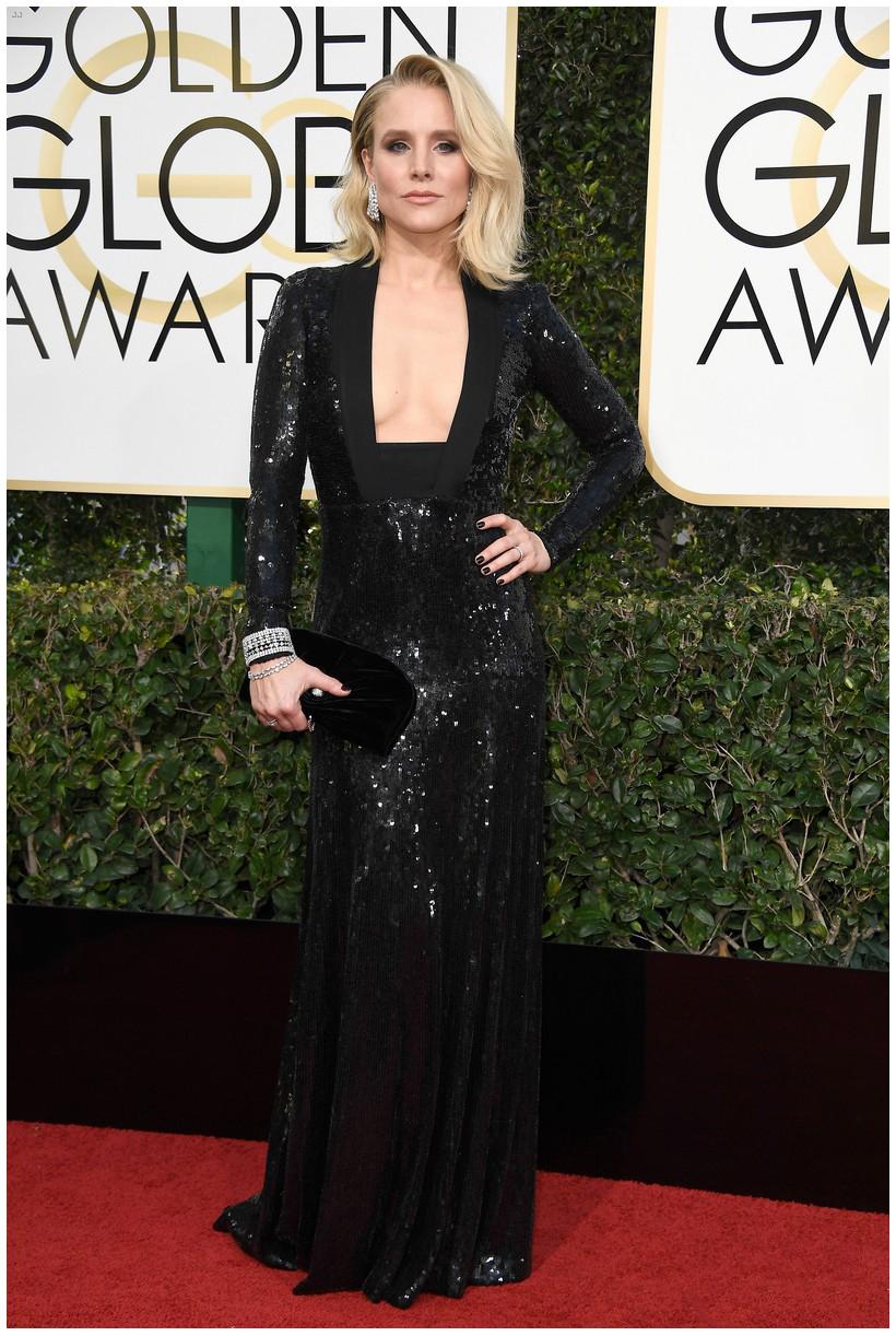 Kristen Bell wearing Jenny Packham.