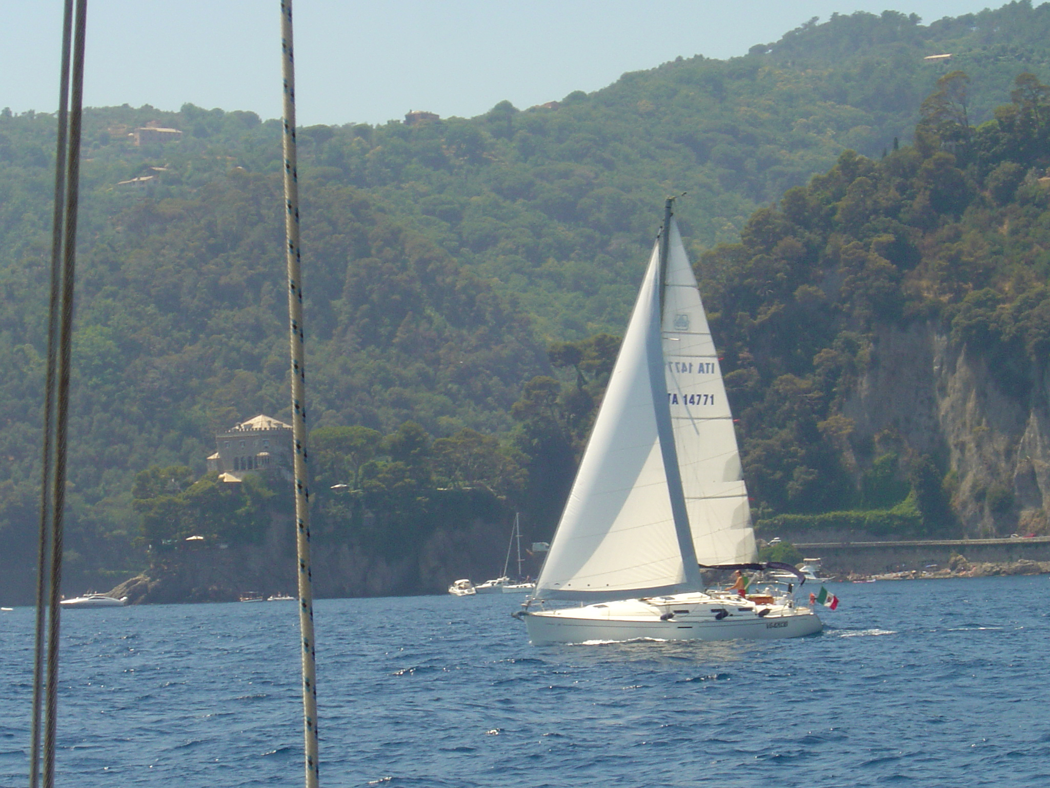 Who would not want to nap while sailing in the Ligurian Sea?!