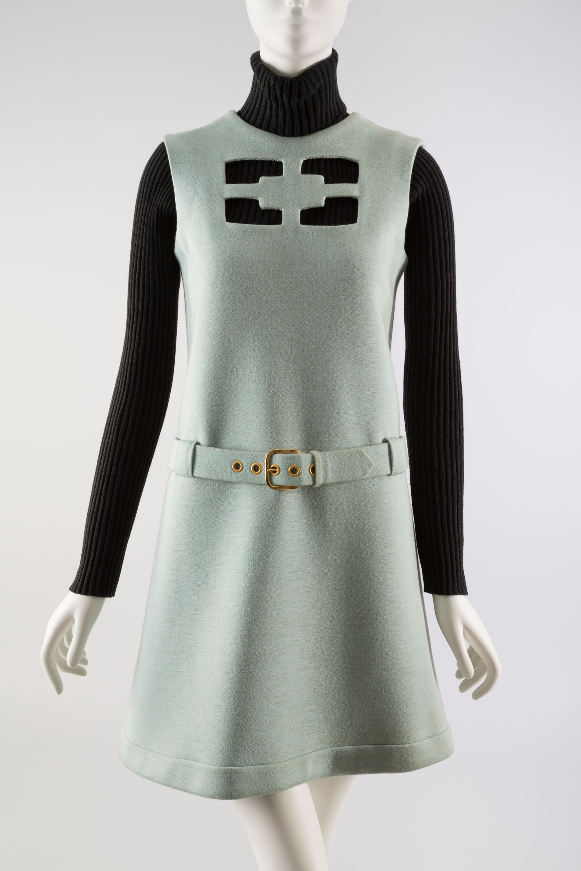 "Pierre Cardin, ""Cosmos"" dress, 1967."