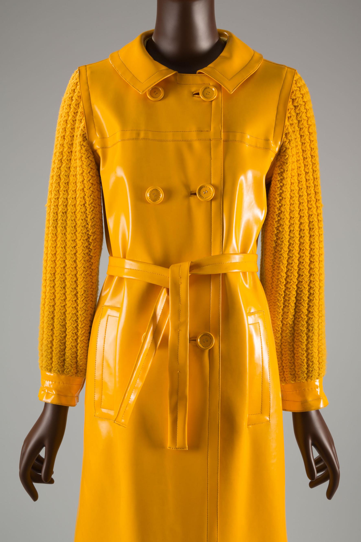 Yves Saint Laurent Rive Gauche, raincoat, 1966.