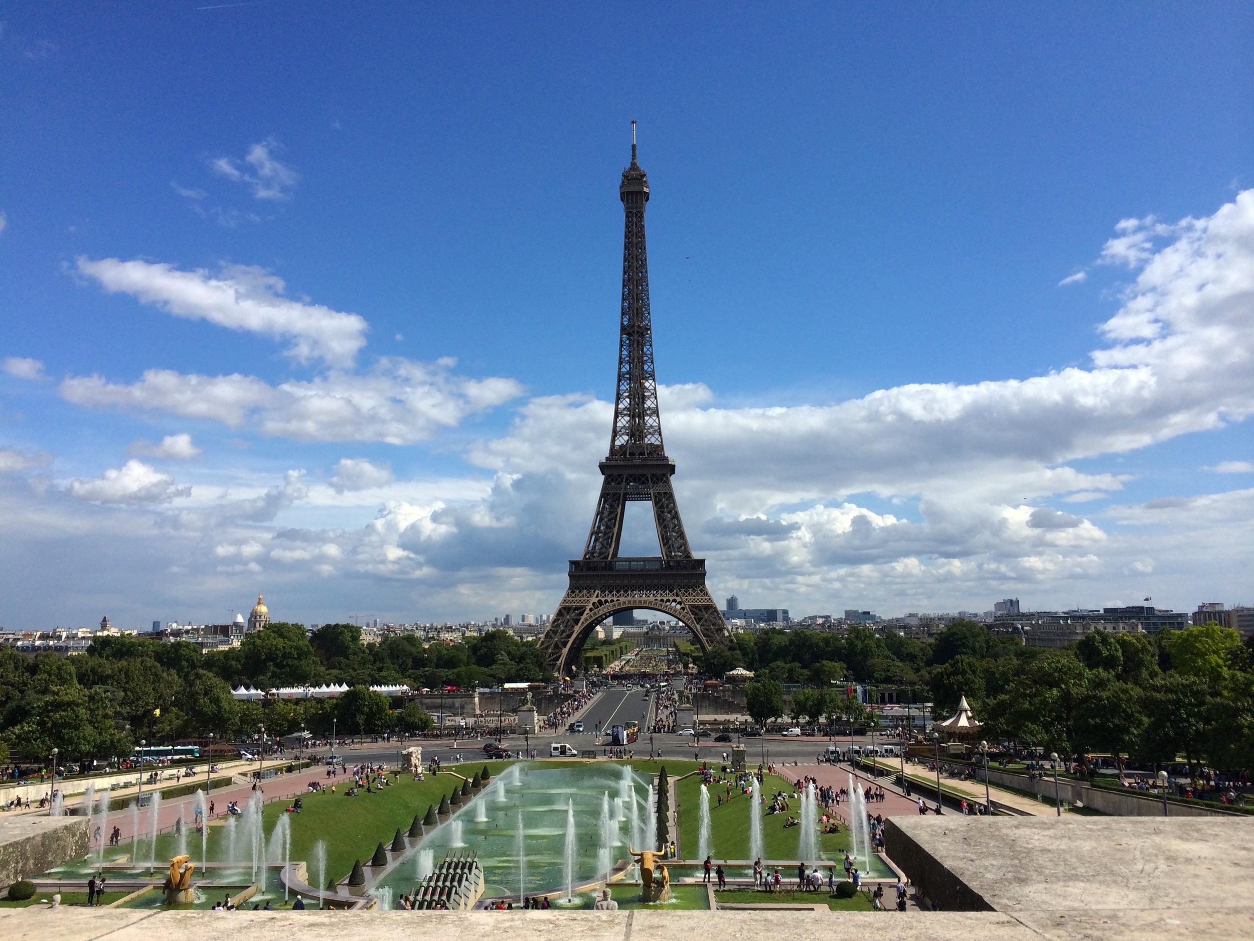 La Tour Eiffel. Paris, August 2014.