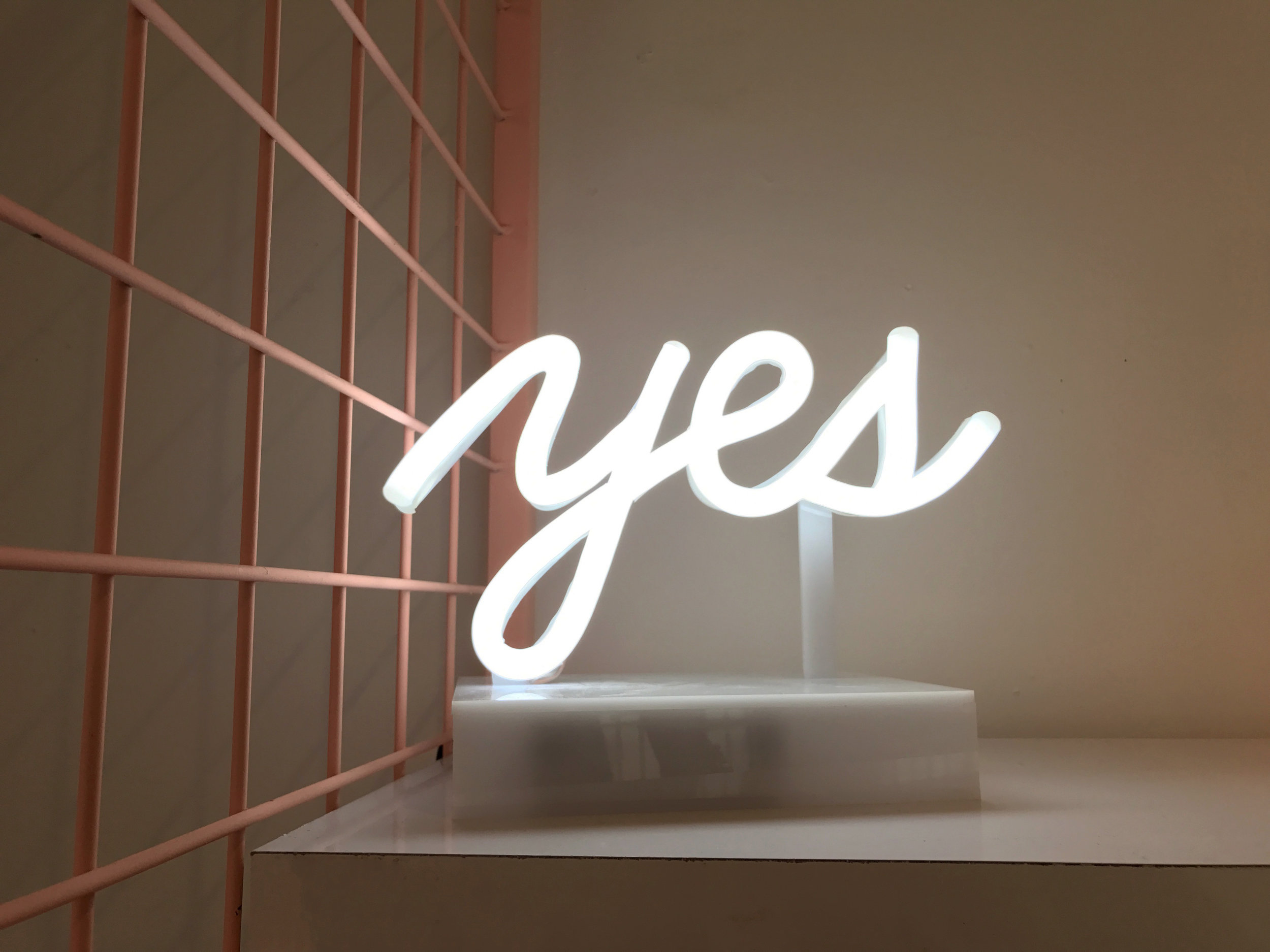 """Subliminal signs in the SquareSpace space.Turn the """"no"""" into a """"yes."""""""