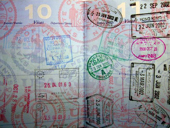 How pretty does a fully stamped passport look? Image via Pinterest.